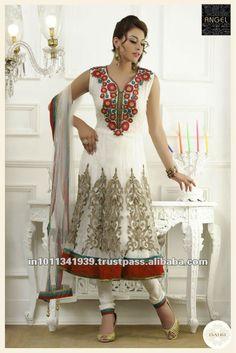 Divine Off White Chudidar Kameez Wedding Salwar Kameez, Latest Salwar Kameez, Salwar Kameez Online, Shalwar Kameez, Churidar, White Chudidar, Indian Dresses, Indian Outfits, Latest Salwar Suit Designs