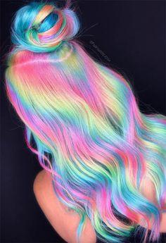 Pretty Hair Color, Hair Color For Black Hair, Dark Hair, Pelo Color Morado, Unicorn Hair Color, Creative Hair Color, Hair Dye Colors, Creative Hairstyles, Dye My Hair