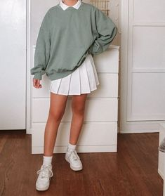 Indie Outfits, Teen Fashion Outfits, Retro Outfits, Women's Fashion Dresses, Vintage Outfits, Cheap Outfits, Girly Outfits, Cute Skirt Outfits, Cute Casual Outfits