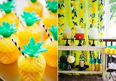 A pineapple-themed birthday party | Photo by KCB Photography | Read more -  http://www.100layercake.com/blog/?p=78833