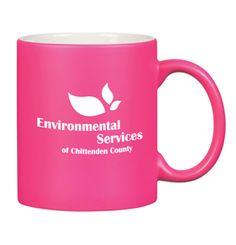 Choose this 11 oz. Neon Ceramic Mug for a bright promotional future!