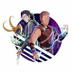 Loki and Thor fanart Thor Y Loki, Loki Art, Marvel Avengers, The Avengers, Bucky, Harley Queen, Asgard, Marvel Fan Art, Tom Hiddleston Loki