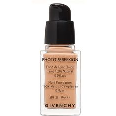 Givenchy Photo'Perfexion Fluid Foundation SPF 20 ($51) ❤ liked on Polyvore featuring beauty products, makeup, face makeup, foundation, beauty, base, filler, perfect ivory, givenchy foundation and spf foundation