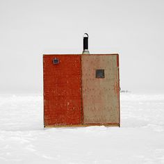 "Untitled from the ""Ice Huts"" series by Canadian photographer Richard Johnson in Canada. via Obsessive Collectors"