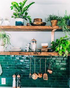 Demuestra un poco de amor a la madre naturaleza. | 27 Cocinas preciosas para inspirar al chef dentro de ti
