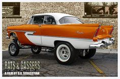 Very unusual, mid 50's Plymouth gasser style. ....♡♥♡♥♡♥Love it