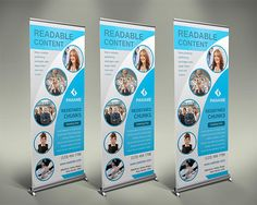 design ROLLUP Standee banners for your business by farhanfani Pull Up Banner Design, Bunting Design, Event Template, Banner Template, Door Hanger Template, Magnetic Business Cards, Display Banners, Retractable Banner, Free Flyer Templates