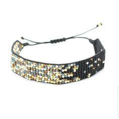 Bracelet perlé noir