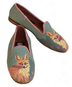 XW1050 Fox on Sage Needlepoint Loafers-Women's