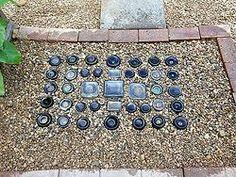How to bury bottles to create stunning yard art