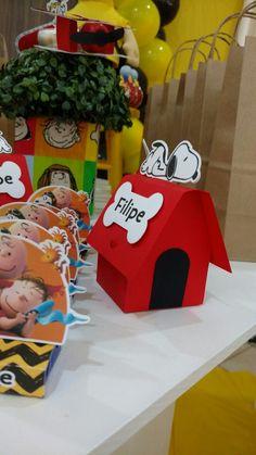 Caixa casinha do Snoopy  #snoopyparty #festasnoopy #caixacasinha