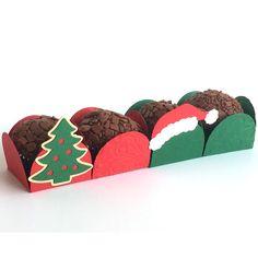 Forminha para doces Natal.  Compre online: www.scrapchique.com.br #forminhaparadoces #christmas #christmastreatholder #treatholder