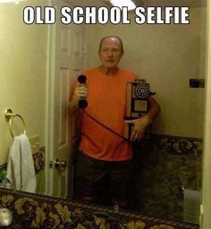 haha... Old School Selfie