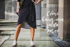 DIY How to make a pareo skirt – Free patterns – Beach Wear Ideas How To Make Clothes, Diy Clothes, Sewing Patterns Free, Free Pattern, Refashion, Diy Fashion, Casual Looks, Beachwear, Harem Pants