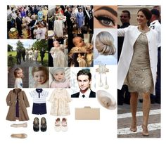 """""""Attending the Christening of Prince Orion James Arthur"""" by dawn-wales ❤ liked on Polyvore featuring Belpearl, Betteridge, Dune, Pippa, Ralph Lauren, Helen and NATURAPURA"""