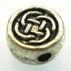 Silver Celtic Knot Beads - 3 - Spoil Me Silly Jewellery