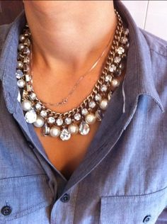 This necklace with this shirt ... love it!