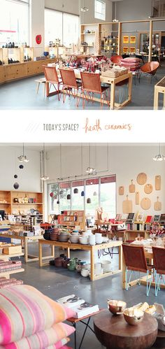 heath-ceramics ok it's a ceramic shop - but it would be cool to have a house… Pottery Cafe, Pottery Shop, Pottery Studio, Shop Interior Design, Retail Design, Store Design, Ceramic Store, Booth, Heath Ceramics