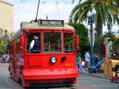 Red Car Trolley at Disney's California Adventure #trolley #californiaadventure