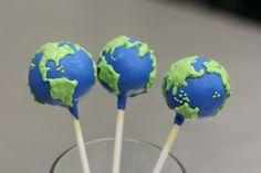Planet Earth Cake Pops