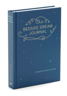 Bedside Dream Journal. Enjoy a deeper understanding of last nights sleep by describing every detail within this compact dream journal from Chronicle Books! #blue #modcloth