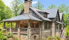 Wow kind of like a cross between a cabin and a castle!