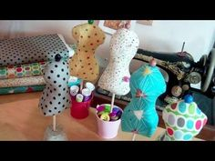 Elegant mannequin pin cushion by Debbie Shore - YouTube