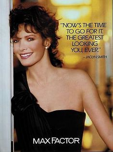 1990 MAX FACTOR  : JACLYN SMITH   Magazine Print  AD  6-pg