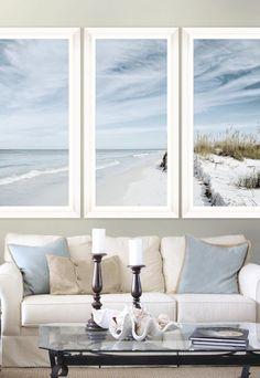 Tablou 3 piese Framed Art Summer Beach #homedecor #interiordesign #inspiration #homedesign #nordic #classic #blue #seaside Summer Beach, Seaside, Framed Art, House Design, Windows, Interior Design, Abstract, Classic, Modern