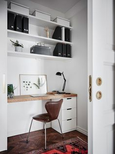 DIY Home Office Design Ideas. Therefore, the requirement for house offices.Whether you are intending on adding a home office or renovating an old room right into one, below are some brilliant home office design ideas to assist you start. Home Office Design, Home Office Decor, Interior Design Living Room, Home Decor, Office Designs, Office Ideas, Decoration Bedroom, Scandinavian Kitchen, Scandinavian Interior