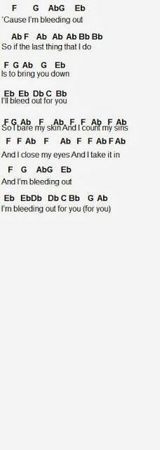 Bleeding Out - imagine dragons #guitar #chords | my everything board ...