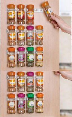 Épices Clips organisateur Rack 20 porte de l'armoire épices Clips magasin N Spice épices pince Clip bandes ( 20 armoire ) 5 x 4 Clips / bande(China (Mainland))