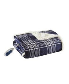 Woolrich Ridley x Oversized Plaid Print Faux Mink to Berber Heated Throw - Blue Stay Warm, Warm And Cozy, Heated Throw Blanket, Plaid Design, Mens Gift Sets, Bag Accessories, Classic Style, Faux Fur, Electromagnetic Field