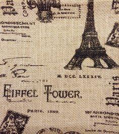 Printed Burlap-Eiffel Tower Printed Burlap-Eiffel Tower ,