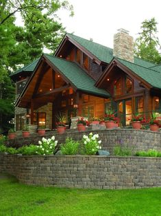 Exterior Appalachian Log Design
