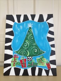 New design for my Christmas Paint Parties!