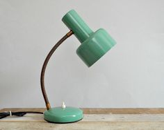 Retro asztali lmpa fm piros love lamp pinterest retro 1960 retro table lamp vintage lagoon blue green by viadeinavigli 6450 aloadofball Choice Image