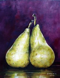 Buy A pair of Pears in Purple, Oil painting by Hanna Kaciniel on Artfinder. Discover thousands of other original paintings, prints, sculptures and photography from independent artists. Original Art, Original Paintings, Pears, Oil Painting On Canvas, Deep Purple, Artworks, Sculptures, Artisan, Illustration