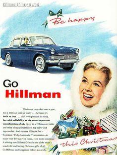 Vintage Motor car advert  poster reproduction. Hillman Estate