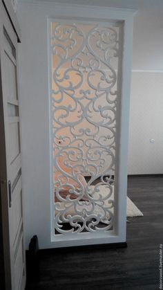 Stunning Privacy Screen Design for Your Home 73 Screen Design, Door Design, House Design, Divider Design, Living Room Partition, Room Partition Designs, Wall Partition, Home Confort, Pooja Room Design