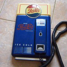 Pepsi Cola Wall Mount Telephone Corded Phone Vending Machine Landline