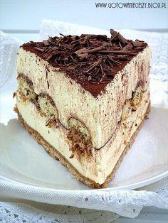 Sernik tiramisu na zimno - Gotuję, bo lubię tiramisu cheesecake . No Bake Desserts, Just Desserts, Delicious Desserts, Dessert Recipes, Yummy Food, Italian Desserts, Dinner Recipes, Tiramisu Cheesecake, Cheesecake Recipes