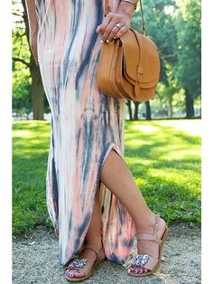 Don't you just love the cut on this hemline?! The Freya Bamboo Scoop Back Maxi Dress #gypsy05 #streetstyle