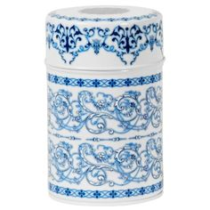 Blue Filigree Canister