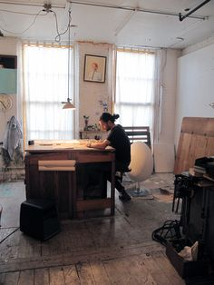 Oliver Jeffers at work