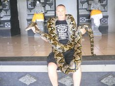 Now thats a snake, 20foot female Python,Tan Halot,Bali, Indonesia