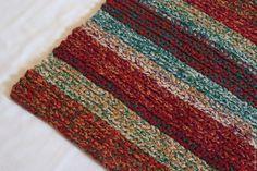 """Купить вязаный коврик прямоугольный """"Цветной Войлок"""" - комбинированный, вязаный коврик, вязаный крючком коврик"""