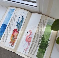 Watercolour Bookmarks for sale for £3.70 // @art.by.melody Instagram