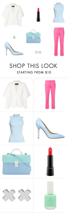 """""""Untitled #9537"""" by mie-miemie ❤ liked on Polyvore featuring Balmain, Emilio Pucci, Milly, Semilla, The Volon, MAC Cosmetics, Witchery and Bio Seaweed Gel"""