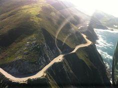 The Pacific Coast Highway running through Big Sur, amazing shot!